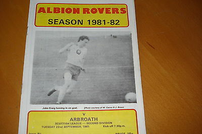 Albion Rovers V Arbroath                                                 22/9/81
