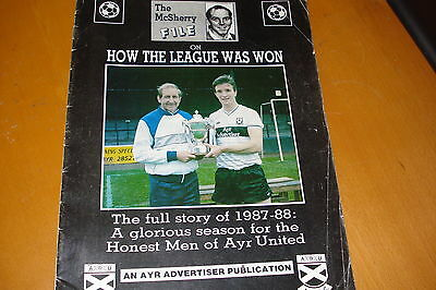 Ayr United          How The League Was Won Magazine          From Season 1987-88