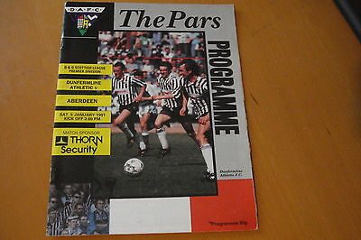 Dunfermline Athletic V Airdrieonians (Airdrie)                            5/1/91