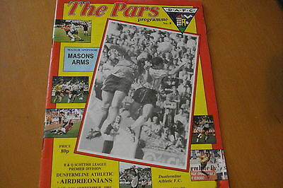 Dunfermline Athletic V Airdrieonians (Airdrie)                           14/9/91