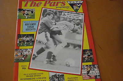 Dunfermline Athletic V Airdrieonians (Airdrie)                          21/12/91
