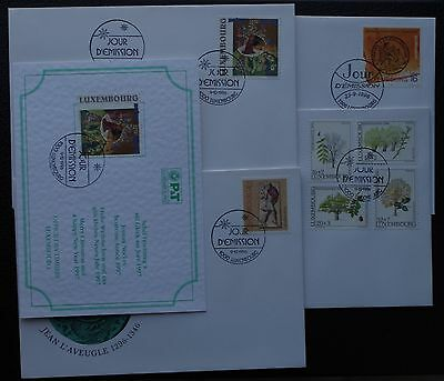 LUXEMBOURG : FDC année 1996 complète