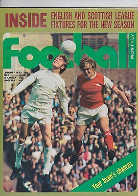 Football Monthly Magazine August 1972