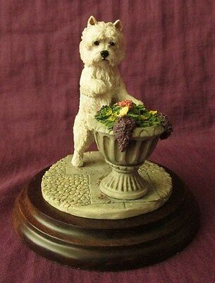 Country Artists West Highland Terrier with Butterfly CA 330 by K Sherwin 1989