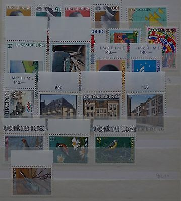 LUXEMBOURG : Année 1994 (sauf N° 1297) ,timbres neufs **