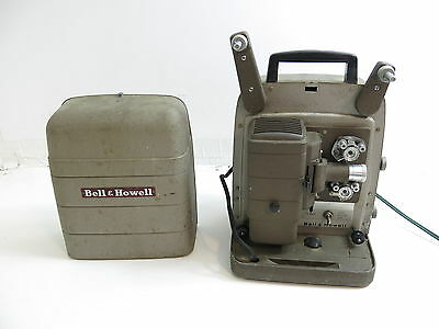 Vintage 8Mm Bell & Howell Model 254 Rs Movie Projector With Case