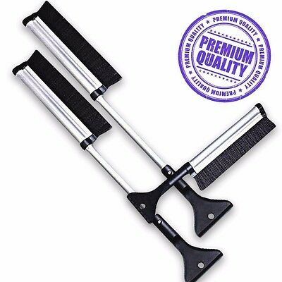 "Zone Tech 2x Extendable Telescopic Ice Scraper Snow Brush Extends from 17""-24"""