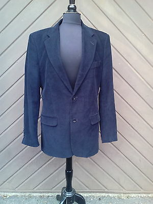 Mens Vintage Style ZARA MAN Corduroy Jacket/Blazer in Black. Chest: 40""