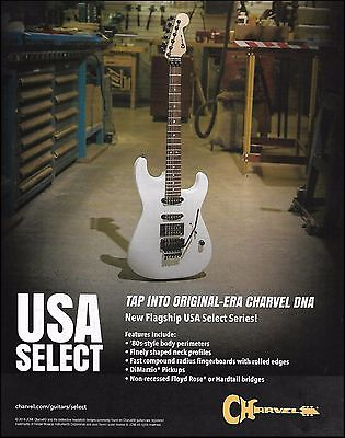Jackson Charvel 2016 USA Select Series ad 8 x 11 advertisement print