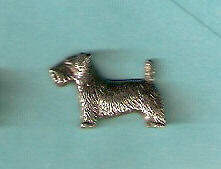 Sealyham Terrier  Tie Tac Lapel Pin Pewter Jewelry