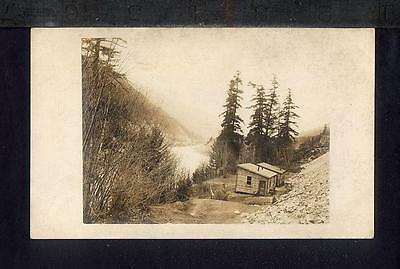 1915 ENGINEERS CAMP FRASER RIVER  Canadian National Railway RPPC North Bend BC