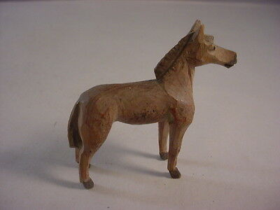 Beautiful Miniature Hand Carved Wooden Horse Figure