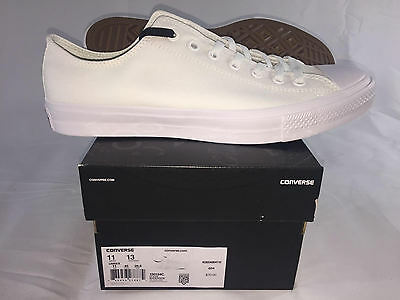 Converse Chuck Taylor All Star Ii Low Top Shoe White/white Canvas Casual 150154C