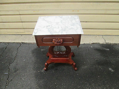 57440 Marble Top VICTORIAN Furniture Lamp Table Stand