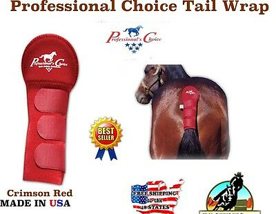 Professional's Choice Tailwrap Red Pro Horse Tail Wrap Trailer Breeding 52212