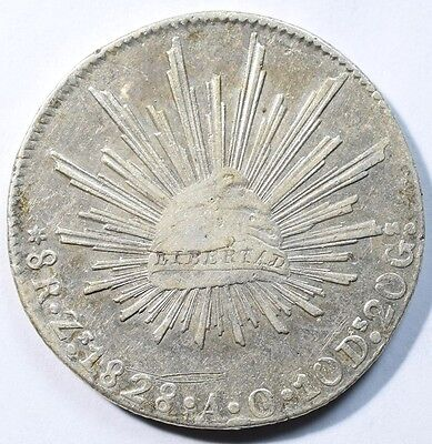 1828 Mexico 8 Reale