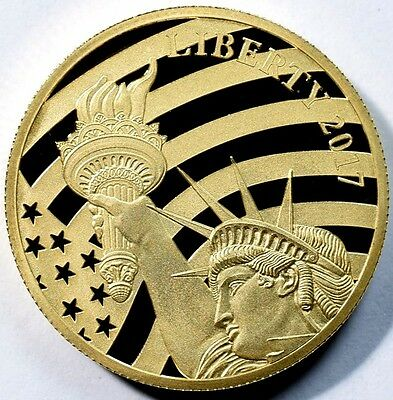 2017 Cook Islands $25 Statue of Liberty - 1/2 oz .24 Pure Gold