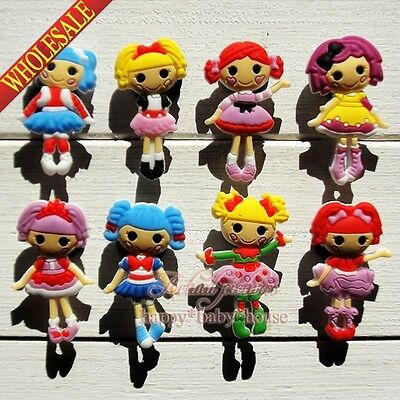100PCS The Lalaloopsy PVC Shoe Charms Accessories Fit JIBZ Bracelets Croc Gifts