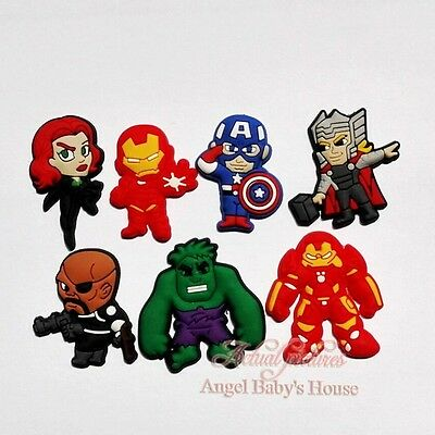 100pcs Black Widow Super Hero PVC shoe charms accessorie for Bracelets Croc gift