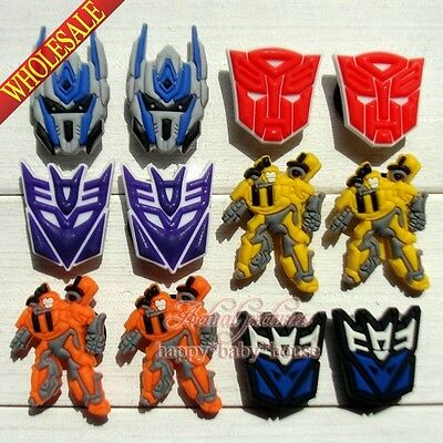 Novelty 100PCS Transformers PVC Shoe Charms Accessories Fit JIBZ Bracelets gifts