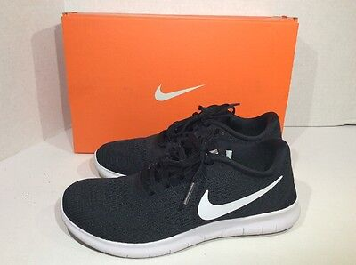 Nike Women's Size 5.5 Free RN Black White Running Shoes Sneakers ZG-1130