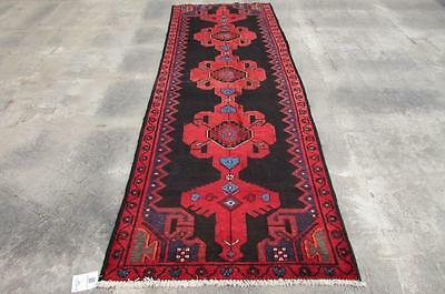 3'3X9'6 hand knotted tribal Persian Rug Vintage Woolen  Oriental Carpet  24