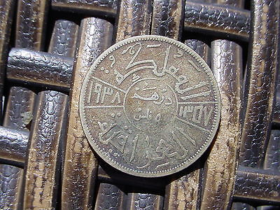 1937 Iraq 50F Silver Coin - Must See