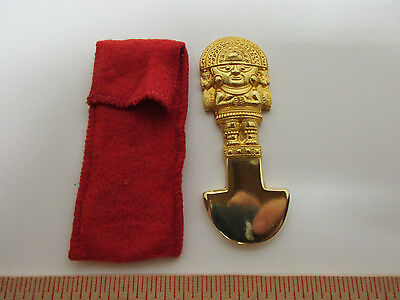 King Tut Figure, Gold Plated, Knoxville 1982 Worlds Fair & Case, Memorabilia Pc.