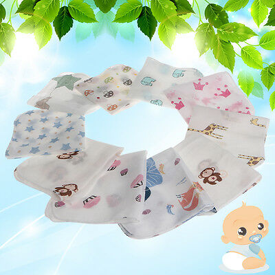 10 Pcs Infant Baby Newborn Soft Washcloth Bath Towel Bathing Feeding Wipe Cloth