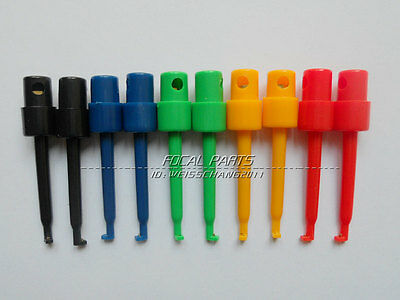 10PCS Lead Wire Kit Test Hook Clip Grabbers Test Probe SMT/SMD f Multimeter M319