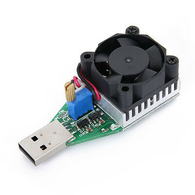 15W 3.7-13V Industrial Electronic Load Resistor USB Discharge Battery Tester New