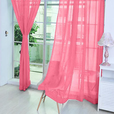 1 X Valances Tulle Voile Window Door Curtain Drape Panel Sheer Scarf Divider
