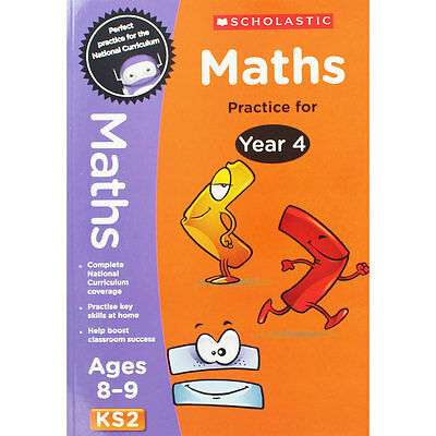 Maths Practice For Year 4 - Key Stage 2 (Paperback), Children's Books, Brand New