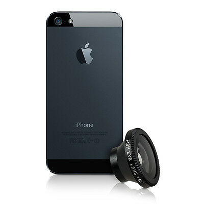 kwmobile MAGNETIC CAMERA LENS FOR APPLE IPHONE SE / 5 / 5S BLACK SMARTPHONE