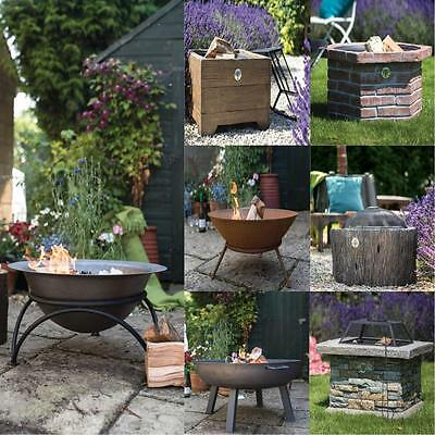 Garden Fire Pit Outdoor Wood Log Burner Bbq Patio Heater Fitpit Stove Brazier