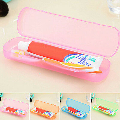 Portable Toothbrush Protect Holder Case Box Tube Cover For Travel Hiking Camping