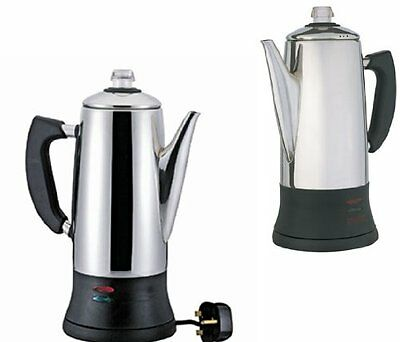 New Electric 12 Cup Coffee Percolator Stainless Steel Coffeemaker Good Ideas