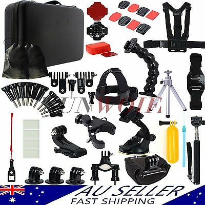 AU Go pro Camera Accessories Kit Case Chest Head For Gopro Hero 5 4 3 3+ 2
