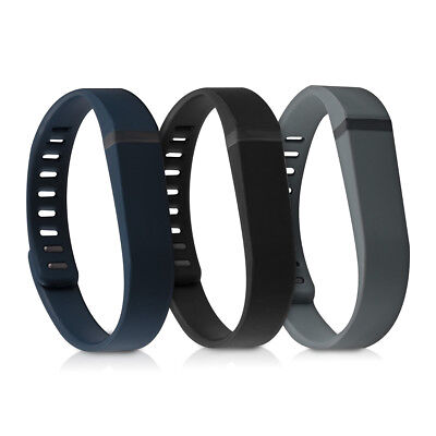 3X Silicone Spare Bracelet For Fitbit Flex Black Fitness Bracelet Flexible