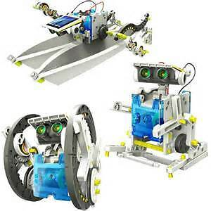 14-in-1 Educational Solar Robot Kit DIY Green Energy Science Toy Set for Kid's