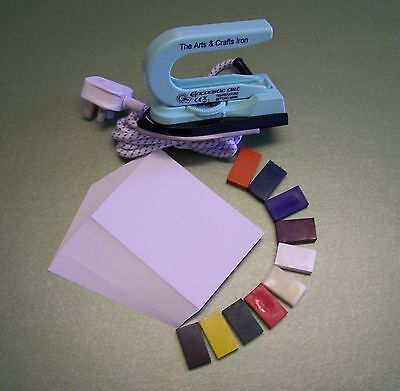 Cheap Encaustic Wax Art Starter Set with Iron, card & wax. For the UK only.