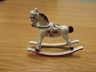 Dolls House Metal Toy Rocking Horse 1:12 Scale