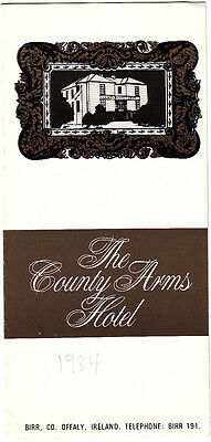 The County Arms Hotel Birr Co Offaly Ireland 1984 Vintage Brochure
