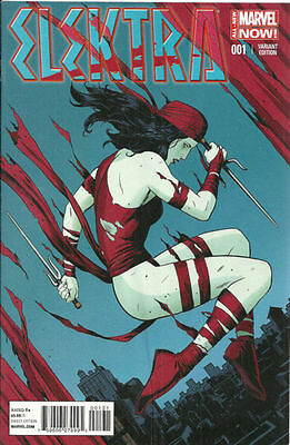 Elektra #1 Rivera 1:50 Variant Near Mint First Print Bagged And Boarded