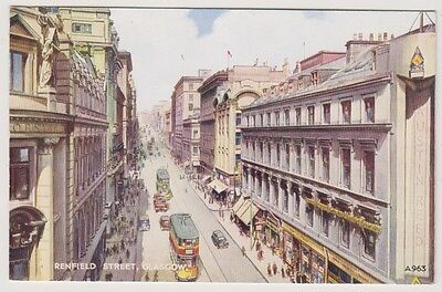 Lanarkshire postcard - Renfield Street, Glasgow by G W Blow