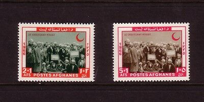 Afghanistan 1966 Red Crescent Day Set Mint Never Hung SG573-4