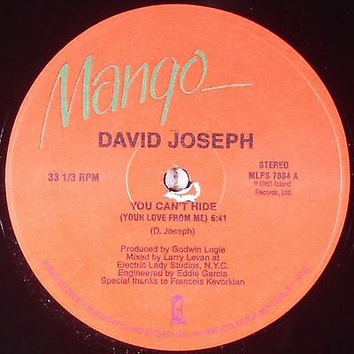 """JOSEPH, David - You Can't Hide (Your Love From Me) - Vinyl (12"""")"""