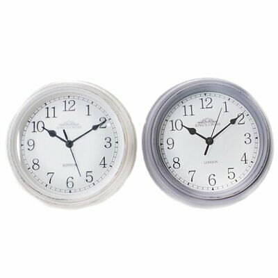 Shabby Chic Vintage Small Wall Clock White or Grey Kings Cross London Home Gift