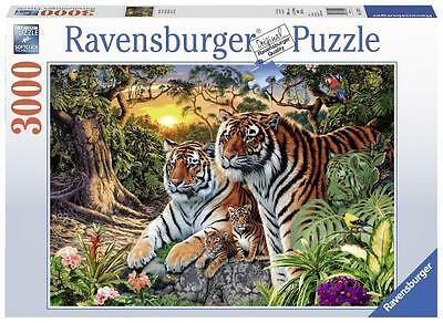 Ravensburger 17072 High Quality Hidden Tigers 3000 Pieces Jigsaw Puzzle Game
