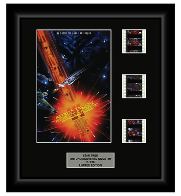 Star Trek: Undiscovered Country (1991) - 3 Cell Film Display